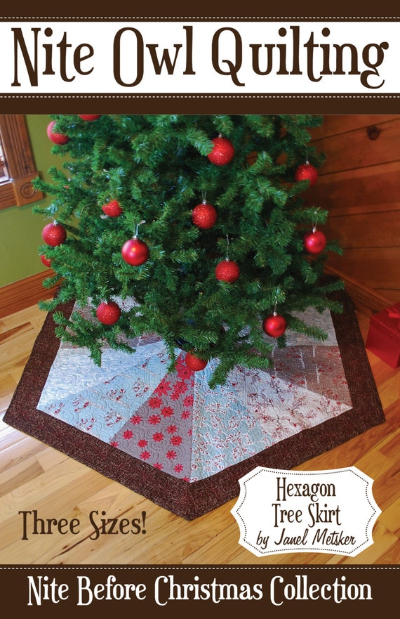 Nite Before Christmas Hexagon Tree Skirt PDF Pattern