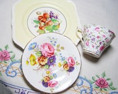 Luncheon Tea Set - Bridal Shower Vintage  Mix & Match Serving China: Sutherland, Rosina and Johnson Bros