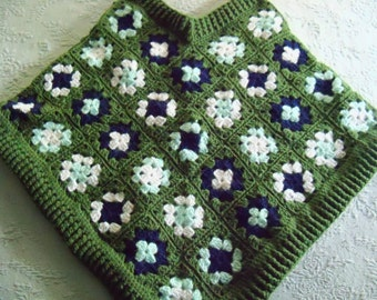Green Crochet! Child Poncho