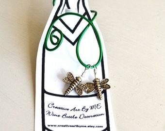 Monday Dragonfly Summer Wine Bottle Decoration or Hostess Gift