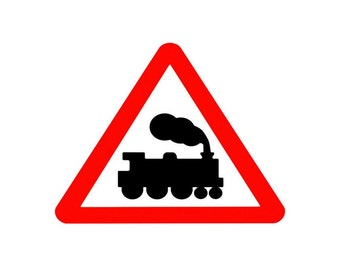 RailRoad Train Sign Image, RR Crossing Poster, RR Wall Art, RR Print,Kids Room Print,Train, Kids Baby Room Poster. Wall Decor. Train