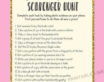 Nerdy image with printable bachelorette scavenger hunt