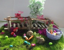 The Bunny Trail and Easter Goodies for Fairy Garden or Doll House Holiday Fun