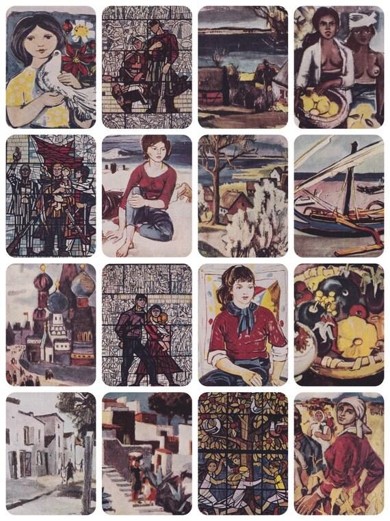 Walter Womacka. Complete Set of 16 Vintage Postcards in original cover -- 1966
