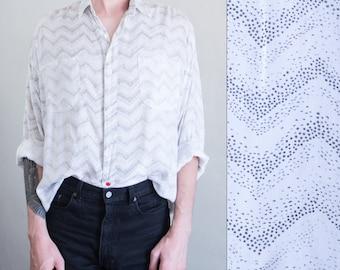 slouchy new wave shirt - L/XL