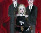 RESERVED For Joyce, Custom Portrait Illustration 11x14