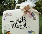 Wedding Card Holder-Vintage Suitcase