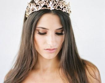Bohemian Crown Bridal Headpiece, Bridal Headband, Gold Wedding Head Piece, Boho headpiece, Forest Princess Bridal Crown, Boho Tiara, SALE