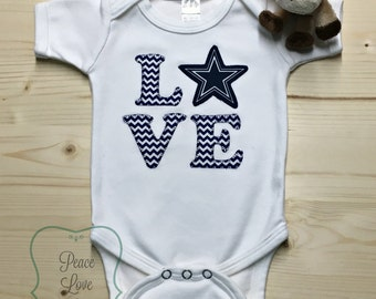 Dallas Cowboys Bodysuit made from Dallas Cowboys Fabric, Cowboys Baby, Dallas Baby Girl, Baby Shower Gift, Baby Girl Cowboys, Texas Baby