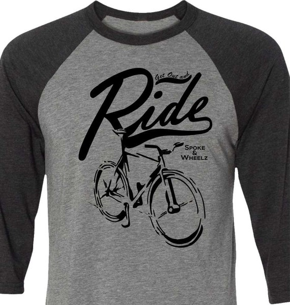 Spiderwire Logo Design T Shirt Size Medium Polyester: Bicycle T-shirt-Get Out And Ride-Road Bicyclemountain Bike