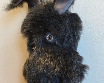 Teddy Bear with teeth - Rabbit - Handmade and OOAK - Uncanny Creature /Made to order/ Quirky Uncanny Scary Creepy Cute