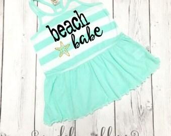 Girls Dress, Girls Beach Dress, Girls Summer Dress, Birthday Dress, Beach Dress, Beach Dress for Girls, Girls Birthday Dress, Beach Babe