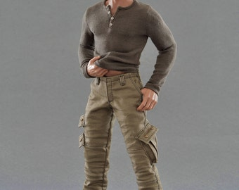 1/6th scale Dexter Morgan inspired outfit set for regular size collectible action figure bodies
