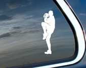 BASEBALL pitcher Car Vinyl Decal - Many Color Choices