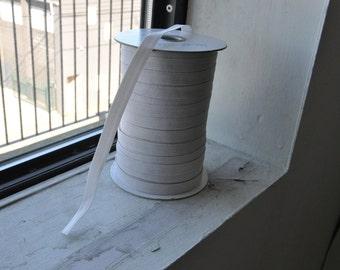 "White Braided Elastic 1cm / 1/4"""