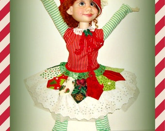 """Duda's """"Kitchen Sink Christmas!"""" - Handmade Holiday Doll Clothes for 19 inch Trinket Box Kids BJD by Kimberley Arnold"""