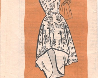 Nice Vintage 1960s Mail Order 4740 Sleeveless Full Skirted Dress Sewing Pattern B34