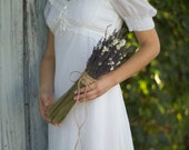 Lavender Ammobium Bridal Bouquet - Rustic Fall Autumn Wedding - Real Dried Flowers - READY TO SHIP