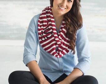 Monogram scarf, SALE, personalized women scarf, infinity scarf, Monogrammed gift, womens gift, personalized gift
