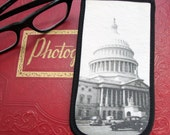 Eyeglass Case with Vintage Photo: US Capitol from a Moving Car, c. 1940
