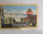 Sale Vintage Coca Cola Coke Advertising Billboard Postcard Linen Bakersfield, California Unused