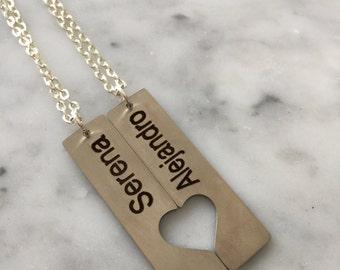 Couple Necklace, Boyfriend Necklace, Girlfriend Necklace, Best Friend Necklace, Customized Necklace, Custom Necklace, Personalized Necklace