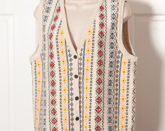Vintage 90s Women's Knit Sweater Vest - NORTHERN REFLECTIONS - L
