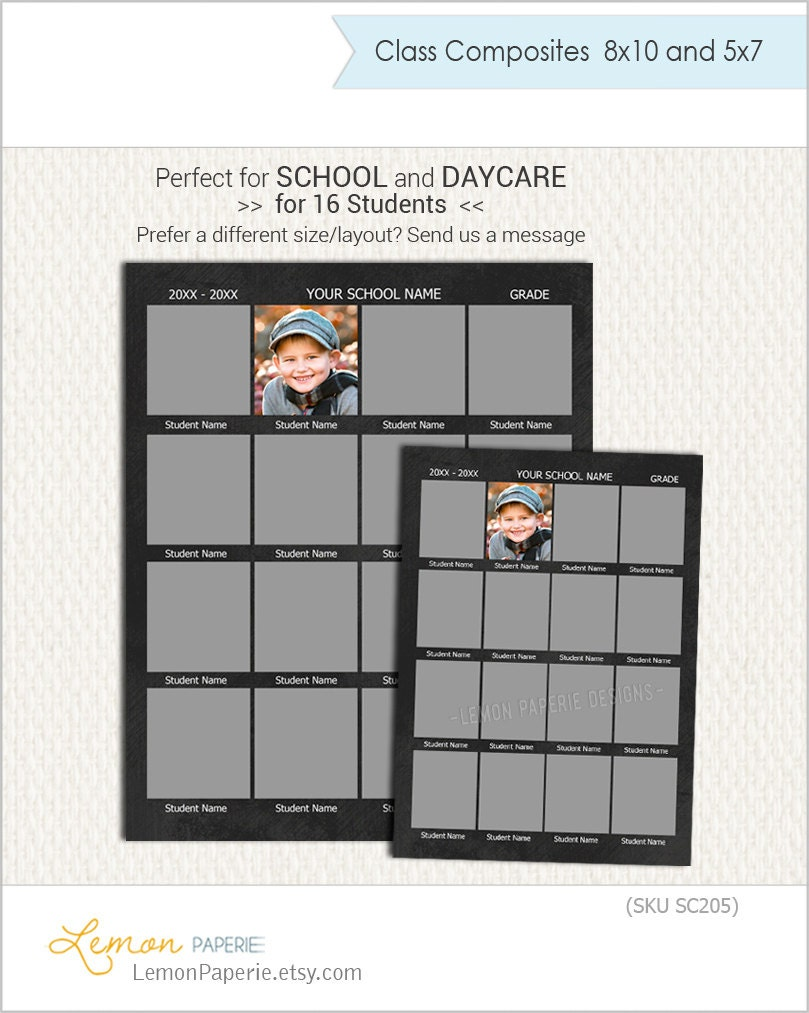 school composite template for 16 in 8x10 and 5x7 daycare. Black Bedroom Furniture Sets. Home Design Ideas