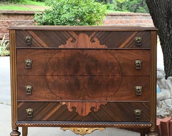 "INSTOCK Custom Antique Bathroom VANITY From This Antique Wood Dresser 38.5"" Wide Wood Finish"