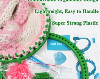 Knitting Loom: Adult Round Hat Green Loom (Like Knifty Knitter)