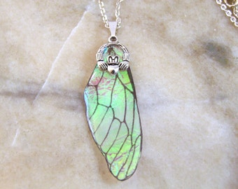 Irridescent Resin Fairy Wing Necklace