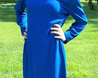 Vintage 80s Ladies Royal Blue Dress by Liz Claiborne Size 10 Only 14 USD