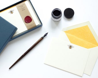 Letterpress Honey Bee Correspondence Cards