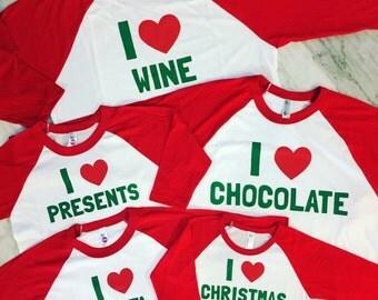 kids christmas shirt, family christmas shirts, matching family shirts, cute christmas card family shirts