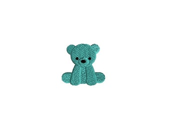 Mini Teddy Bear Machine Embroidery Design-INSTANT DOWNLOAD