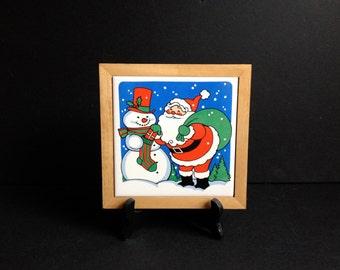 Framed Santa Claus Tile