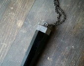 Large Obsidian Point Necklace