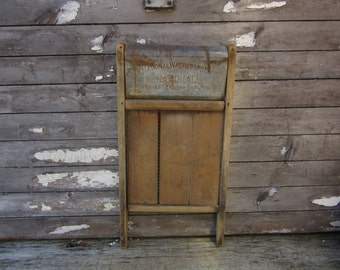 Antique Primitive Wash Board National Old Fashion WashBoard Laundry Room Decoration Decor Rustic Farm House Primitive Old Wood Metal Washing