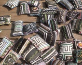 50 Batik Textile Pockets HandMade with Upcycled Hmong Hilltribe Embroidery