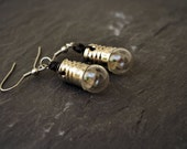 Light Bulb Earrings Geek Jewelry Steampunk Jewelry