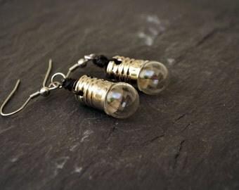 Light Bulb Earrings Geek Jewelry Steampunk Jewelry