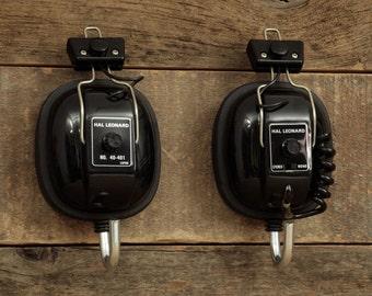 Vintage Hal Leonard Headphone Hangers / Wall Hooks, Key Hooks