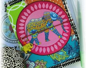 OOAK Passport Fauxdori, Elephant Fauxdori, Scrappy Midori, Free Insert!