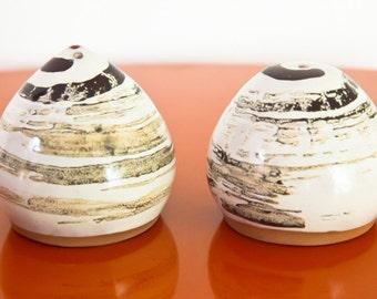 Handmade Ceramic Salt and Pepper Shakers
