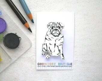 Pug Brooch Cute Brooch Pug Pin Dog Brooch