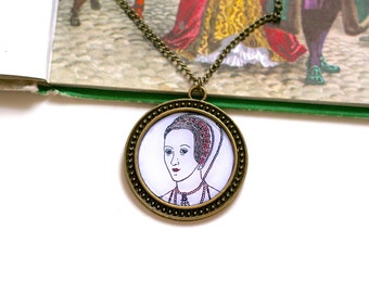 Anne Boleyn Necklace Cute Necklace The Tudors Necklace Geeky Necklace
