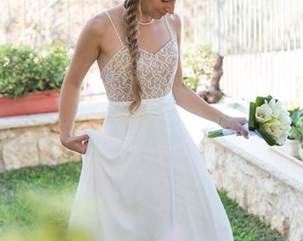 Crochet Wedding Dress Bohemian Wedding Dress Simple Wedding Dress Unique Wedding Dress Fairy Wedding Dress Vintage Wedding Dress Gypsy Dress