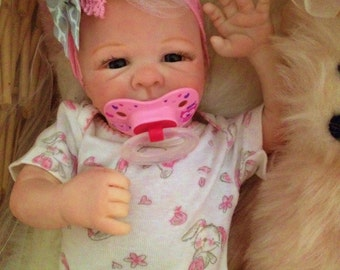 Completed Reborn Preemie Baby Taryn from the Tayla 16 inch Kit  Completed Baby by Little Blessings