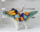 Coral dragon, Needle felted Dragon toy, Fantasy dragon figurine