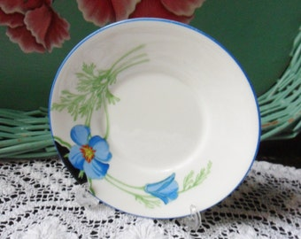 Royal Doulton Saucer from England, Hand Painted French China, Helena Pattern 1932